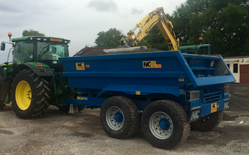 A c harris contracting  with Tipping trailer at Kingston Seymour