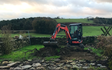 Tooke's agricultural services  with Mini digger at Bentham