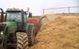 Bowen contractors with Bale processor at Acton Scott