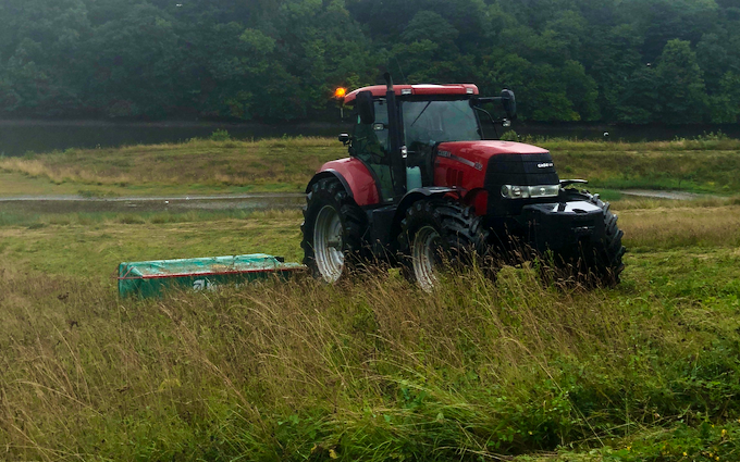 Uhs agriculture with Mower at Swarland