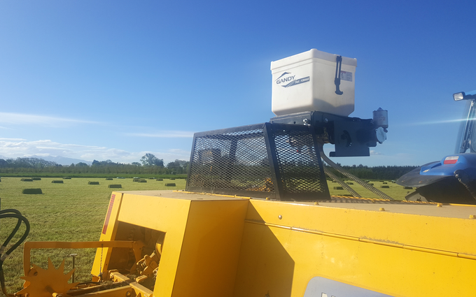 Woudenberg contracting with Small square baler at West Melton