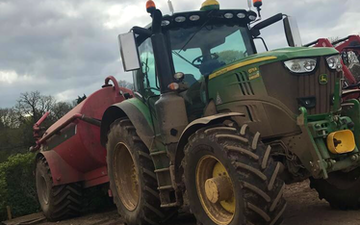 Wildwoods contractors with Slurry spreader/injector at United Kingdom