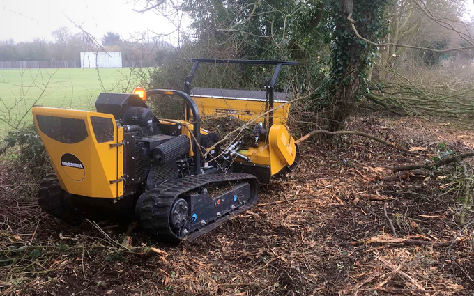 Kikunoi ltd paddock and estate services with Mulcher at Cromar Way