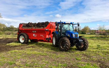 Bhf partnership  with Manure/waste spreader at United Kingdom