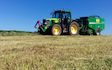 Seggons contractors with Round baler at Loxhore