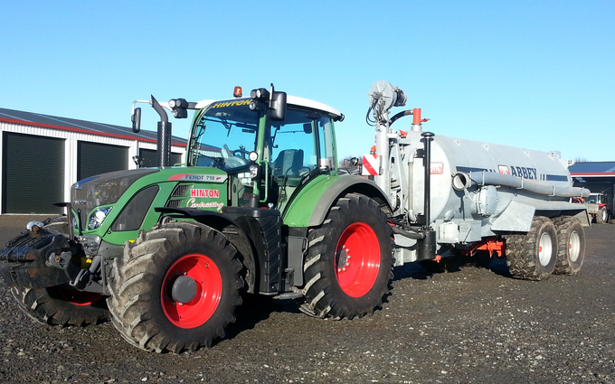 Hinton contracting ltd with Slurry pump at Stratford