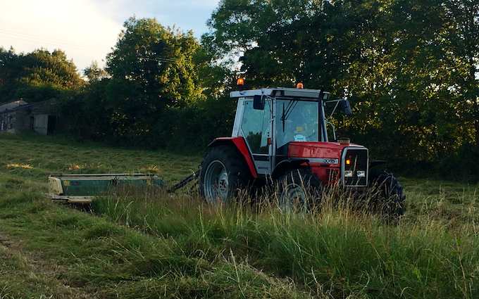 Jw agricultural services  with Mower at Vincent Way