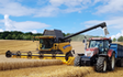 John liddiard farms ltd with Combine harvester at Hungerford