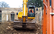 A&r construction with Grader at Eleven Mile Lane