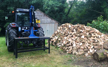 J a mills & sons with Log splitter at United Kingdom