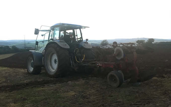 P j pengelly agricultural contracting  with Plough at Blackawton