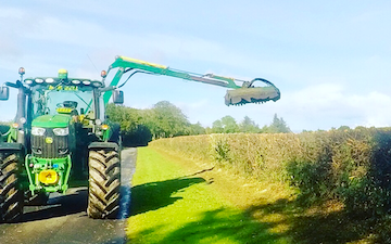 M & m bell contractors with Hedge cutter at Memsie