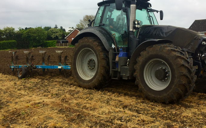 Roger austin agri services with Plough at Goodnestone