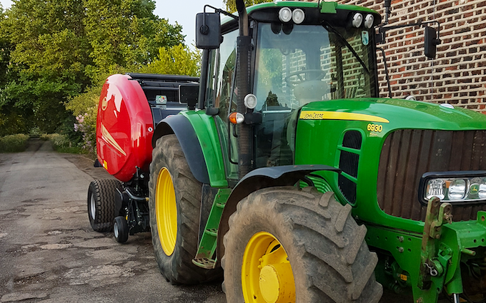 Stainton vale farm with Round baler at Stainton