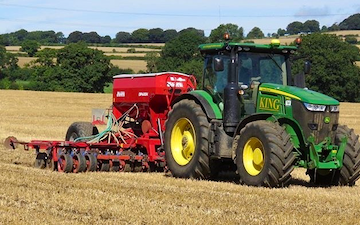 King agriculture with Drill at Kings Head Lane