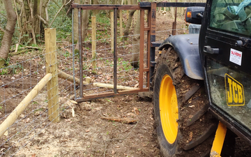 Oliver berti forestry and firewood  with Fencing at Park Gate