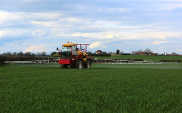 S j fletcher agricultural  services  with Self-propelled sprayer at Leominster