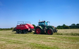 H c beales and co with Large square baler at Great Ellingham