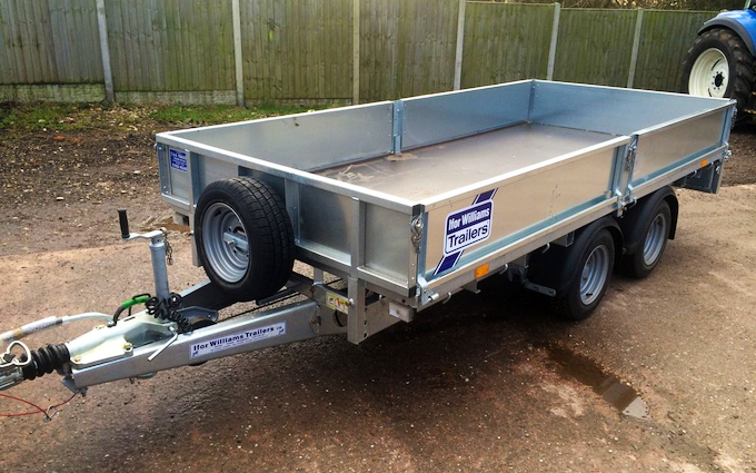 Flatbed trailer hire - T Howells agricultural services