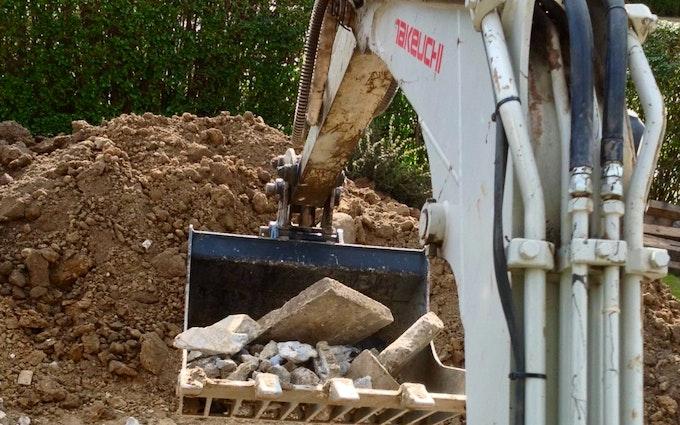 Sørbylille entreprenør service med Minigraver ved Slagelse