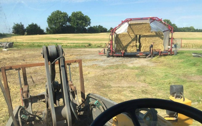 Iwersen agro med Indpakning ved Tinglev