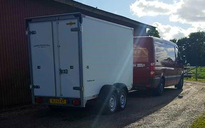 Horkenborg mulitiservice med Servicebil ved Ølgod