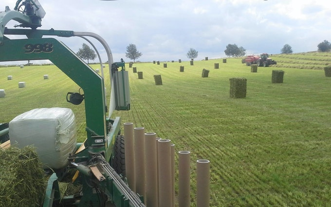 Anden´s agro service med Wrapper ved Slangerup