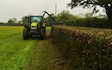 Tovey agri contracting  with Hedge cutter at West Harptree