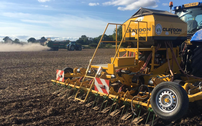 Cowton farming company  with Drill at North Cowton