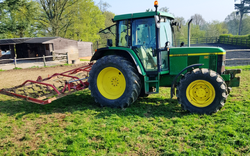 Broad leaf ground maintenance  with Chain harrow at Royal Tunbridge Wells