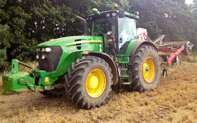 Pg groundcare ltd with Stubble cultivator at Hollybank