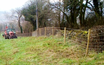 J. dakin with Fencing at Snitterton