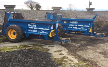 Rlc machinery with Manure/waste spreader at Raskelf