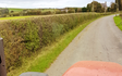 Peter  guy farm contractor with Hedge cutter at Bishop Auckland
