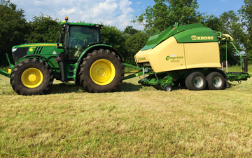 Thelwell contractors with Baler wrapper combination at Nantwich