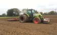 Mead farms with Seedbed cultivator at United Kingdom