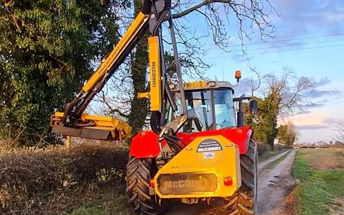 Richard pick  with Hedge cutter at Tattershall