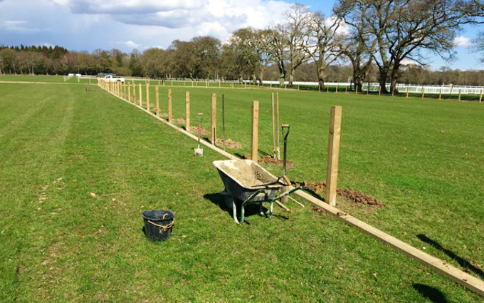 G pothecary forestry contractor  with Fencing at Beaulieu