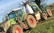 Gregson farming with Fertiliser application at United Kingdom