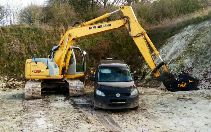 M flack engineering with Excavator at Bromham