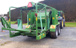 Phil mckee contracting with Round baler at Kihikihi
