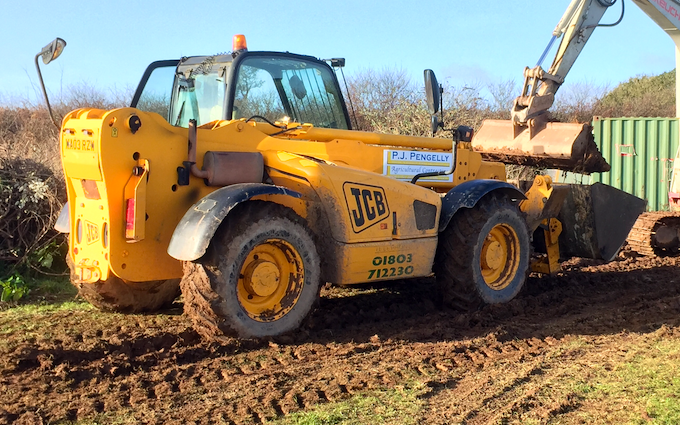 P j pengelly agricultural contracting  with Telehandler at Blackawton