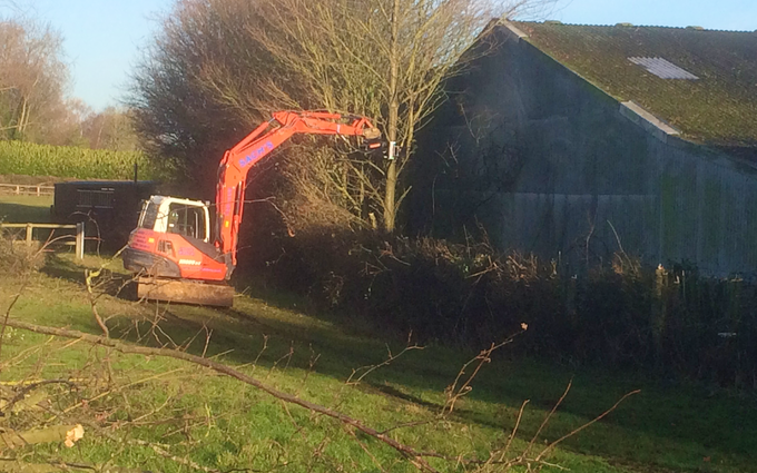 Bennett's contracting with Hedge cutter at United Kingdom