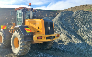 Peter corcoran contracting ltd  with Wheel loader at Maitland