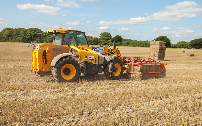Sw machinery hire ltd with Telehandler at Lacock, Chippenham