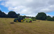 Murray farms ltd with Large square baler at Cressage