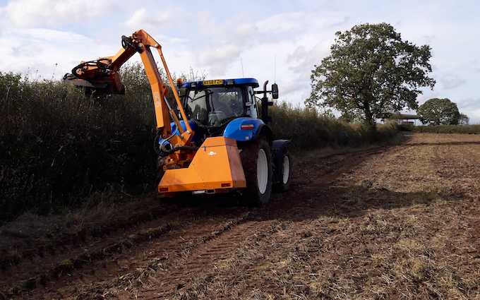 Matthew o'toole  with Hedge cutter at Wichenford