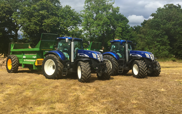 Wilson contractors with Manure/waste spreader at United Kingdom