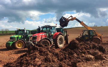 Wildwoods contractors with Manure/waste spreader at United Kingdom