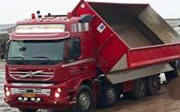 Holmsland maskinstation med Lastbil ved Ringkøbing